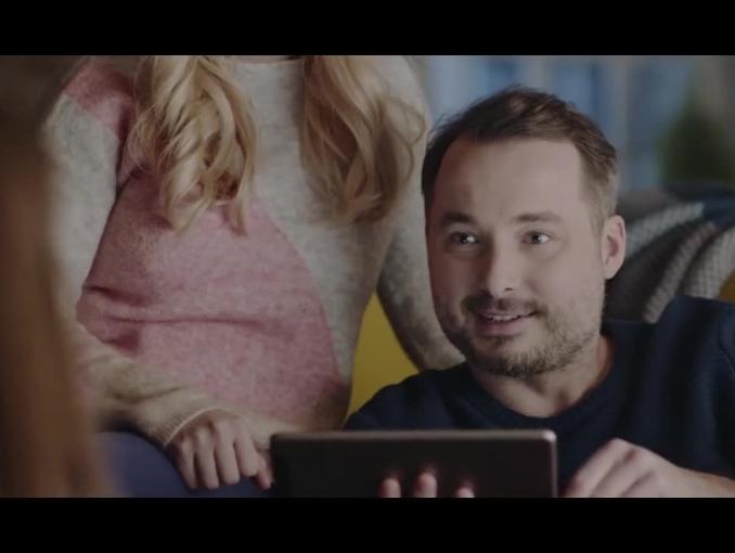 """""""Prezent trafiony, zamówiony!"""" - reklama Ceneo.pl"""