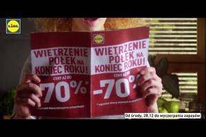"""Lidl reklamuje promocję """"Wielkie wietrzenie półek"""""""