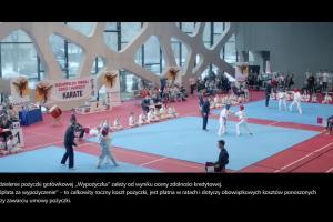 Piotr Adamczyk o zawodach w karate - reklama pożyczki gotówkowej w eurobanku