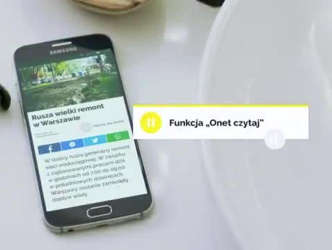 Jarosław Kużniar goli się w spocie aplikacji Onetu z opcją Onet Czytaj