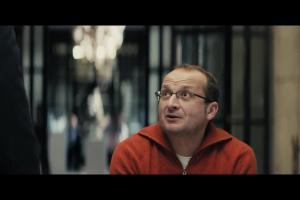 Robert Górski i Mikołaj Cieślak z Mikołajem Kopernikiem reklamują Orange na Kartę
