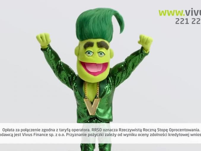 Mr Hi's reklamuje pożyczkę w Vivus.pl