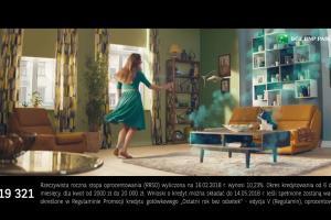 Czarodziejska różdżka w reklamie kredytu w BGŻ BNP Paribas