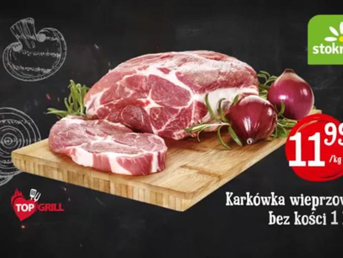 Stokrotka reklamuje produkty na grilla