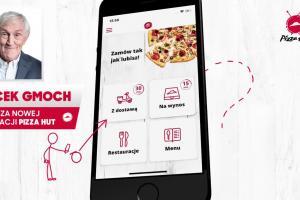 Jacek Gmoch reklamuje aplikację mobilną Pizza Hut