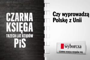 """""""Gazeta Wyborcza"""" z """"czarną księgą rządów PiS"""""""