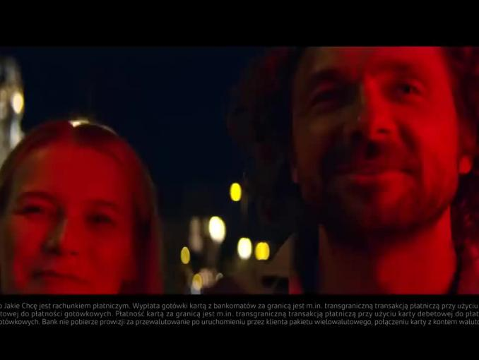 Santander Bank Polska reklamuje Konto Jakie Chcę z kartą do wielu walu