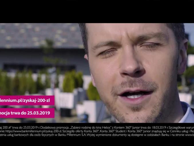 """""""Zyskaj 200 zł"""" - Radek Kotarski promuje Bank Millennium"""