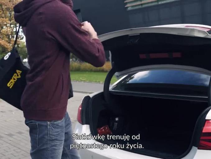 Siatkarz Karol Kłos promuje odzież Vistula