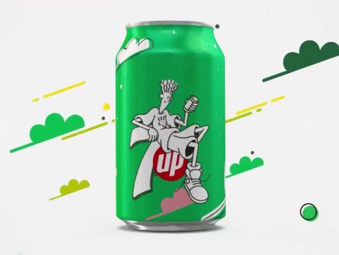 """""""Poczuj chill"""" - ludzik Fido Dido znów na puszkach i butelkach 7UP"""