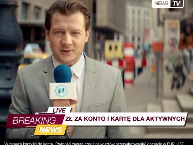 Alior Bank w stylu Mariusza Maxa Kolonki reklamuje Konto Jakże Osobiste bez kosztów przewalutowania