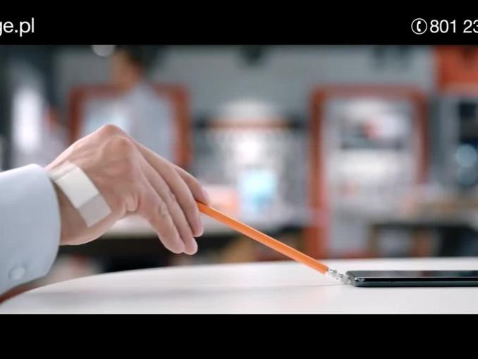 """""""Drapnij okazję"""" w reklamie Orange dla firm"""