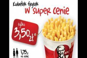 KFC - reklama kubelka frytek
