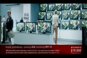 Piotr Adamczyk śpiewa disco-polo w reklamie kredytu gotówkowego w eurobanku