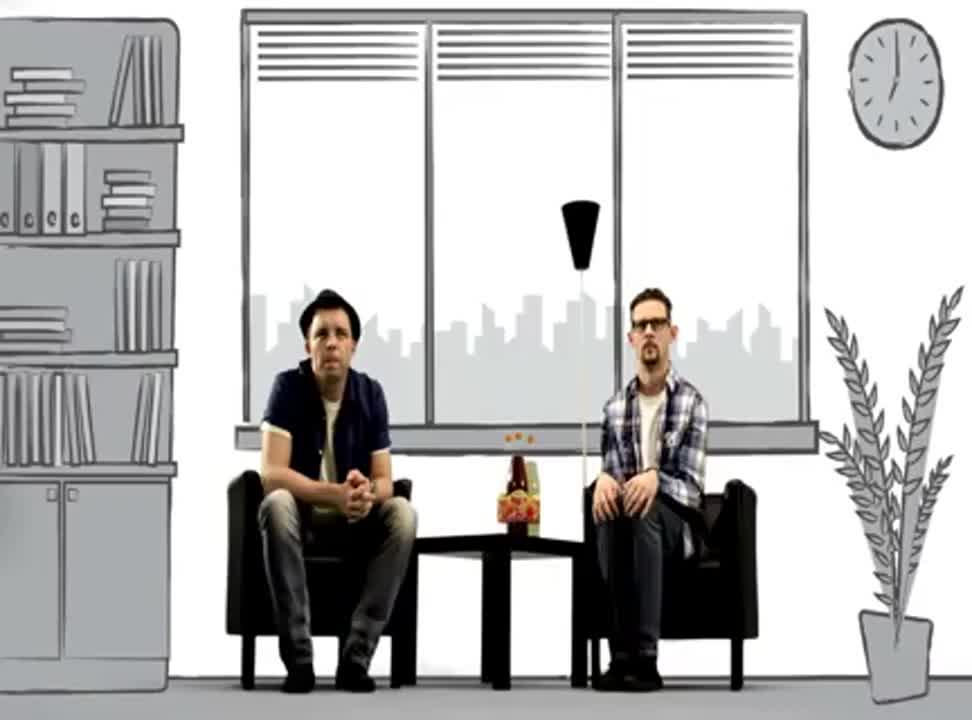 Kabaret Ani Mru Mru reklamuje oranżadę Hellena