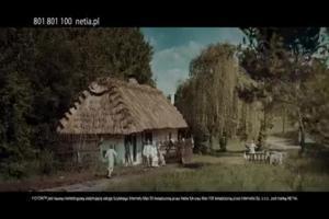 Tomasz Kot jako chłop reklamuje internet Foton w Netii