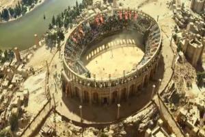 Walka w Koloseum reklamuje Samsung Curved UHD TV