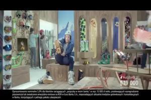 Piotr Adamczyk na zakupach reklamuje kredyt gotówkow w eurobanku