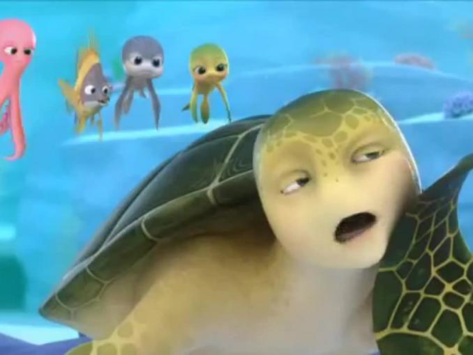 Żółwik Sammy promuje kanał MiniMini+