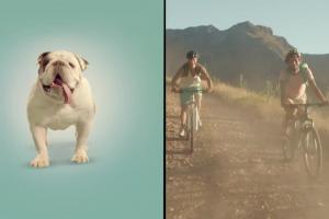 Przejażdżka na buldogu jako najlepsze połączenie reklamuje Tymbark