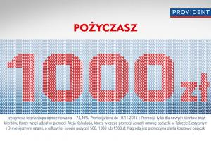 """Promocja """"Rach ciach"""" reklamuje pożyczkę w Provident Polska"""