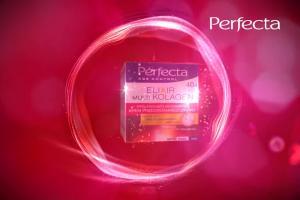 Magdalena Różdżka reklamuje odmładzające kosmetyki Perfecta