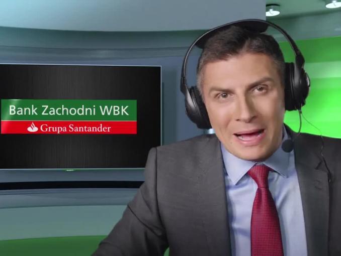 Anna Lewandowska i Mateusz Borek reklamują BZ WBK przed Euro 2016