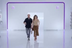 Agnieszka Dugant i Piotr Adamczyk w reklamie Formuły Rodzina w Play